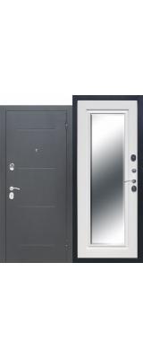 Гарда-75 Серебро Зеркало Белый ясень